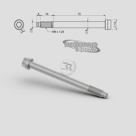 VITE PER FUSELLO D.8mm M8 L.72+18mm