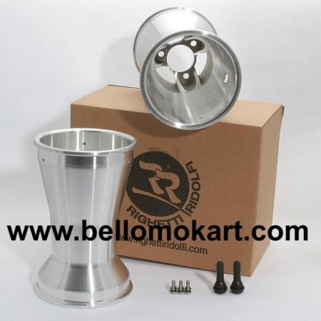 Set 2 cerchi razze 210 mm alluminio