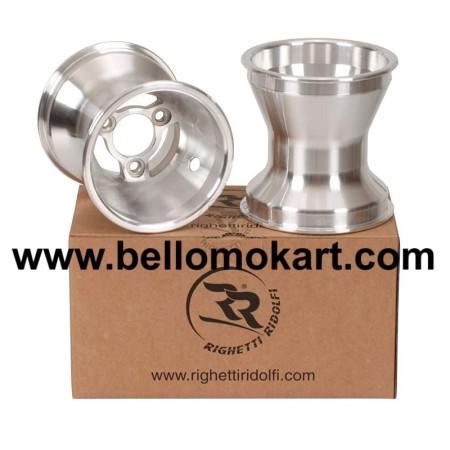 Set 2 cerchi razze 150 mm alluminio