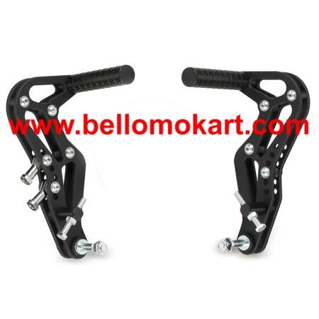 coppia pedali alluminio freno - acceleratore col. nero