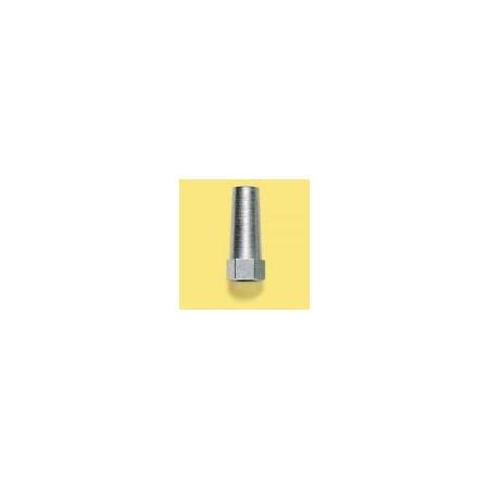dado conico M8 sinistro per tirante sterzo in acciaio