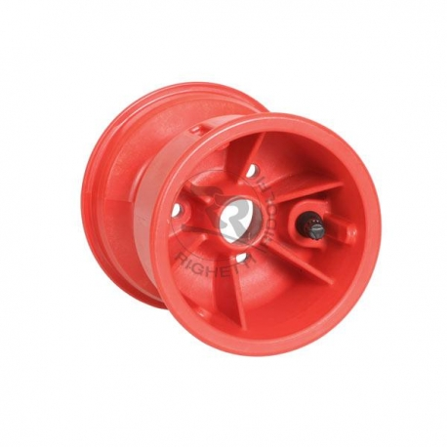 Cerchio ant. 130 mm FV in resina completo di valvola ( rosso )