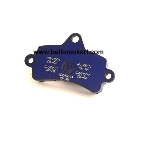 Pastiglia freno singola  Top-kart 100 - 125 blu