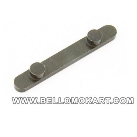 chiavetta con 2  pioli diam. 7,3mm inter. 34mm  H 3,5mm