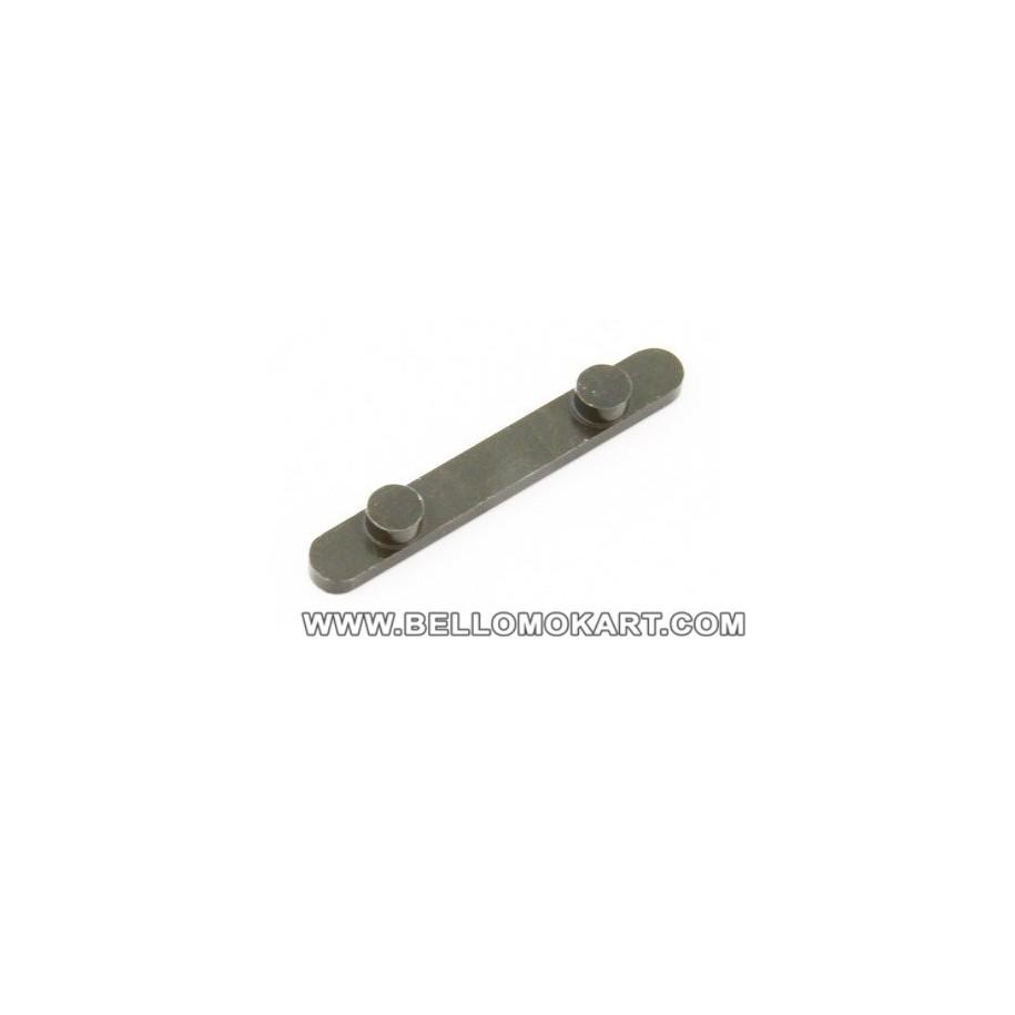 chiavetta con 2  pioli diam. 7,4mm inter. 34mm  H 3,5mm