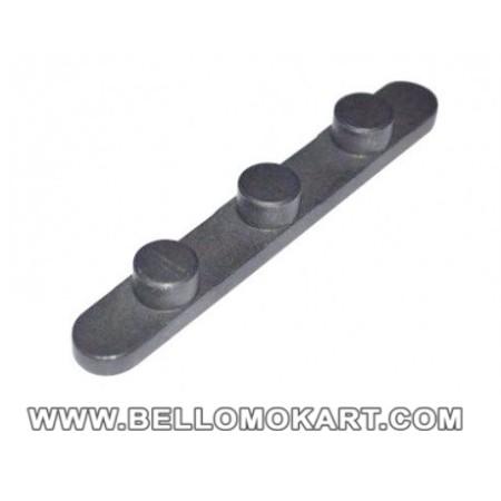 chiavetta con 3 pioli diam. 7,3mm inter. 17mm  H 3,5mm