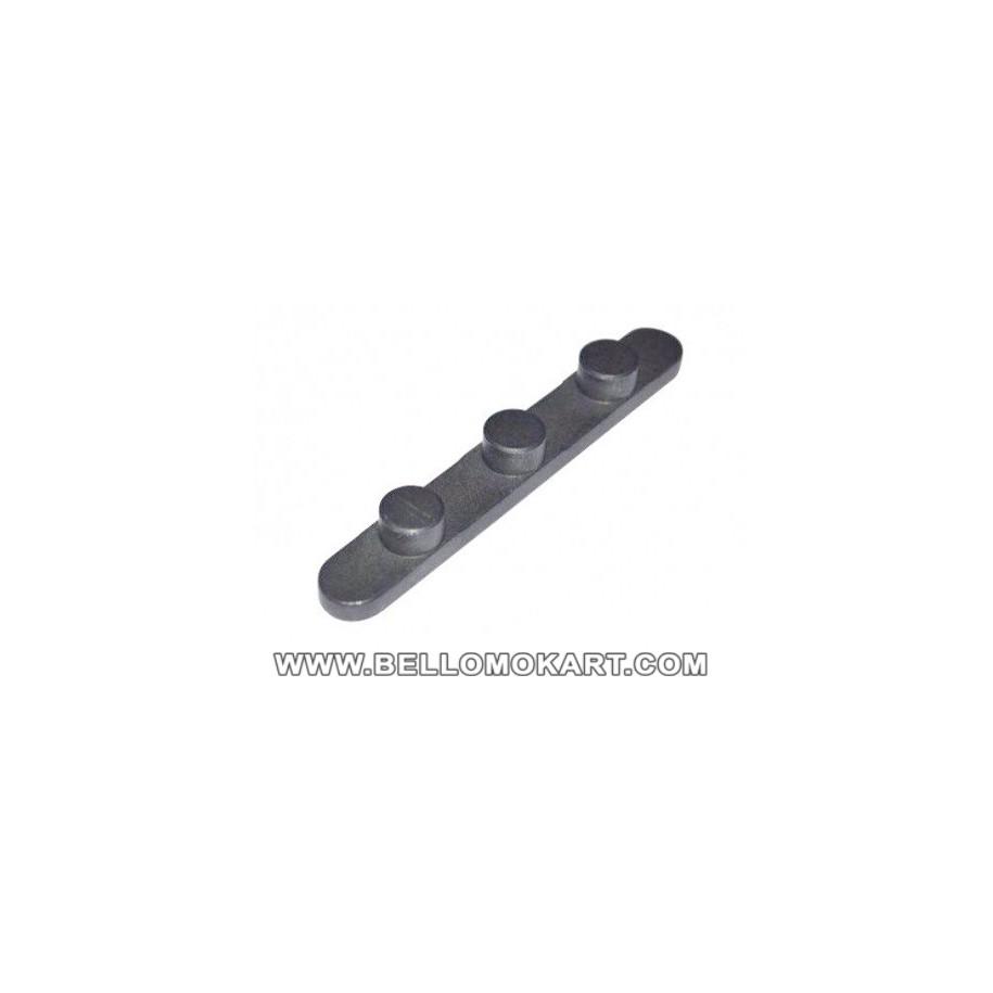 chiavetta con 3 pioli diam. 7,4mm inter. 17mm  H 3,5mm