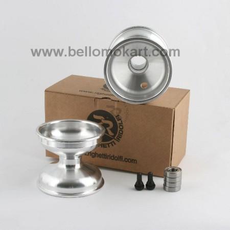Set 2 cerchi alluminio 115 mm con mozzo completi