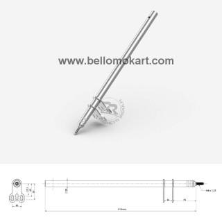 Piantone sterzo M8 multiregolazione L.510 mm