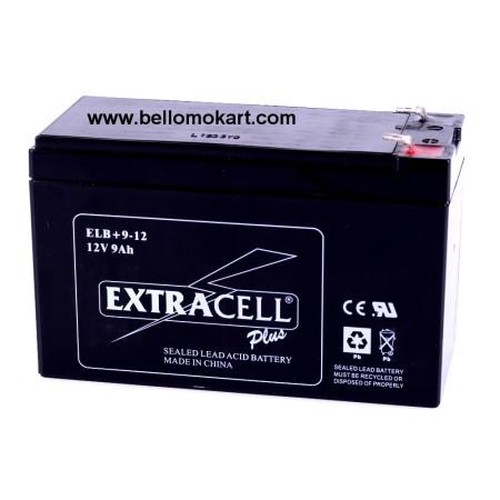 Batteria EXTRACELL 12v  9Ah per motori tag