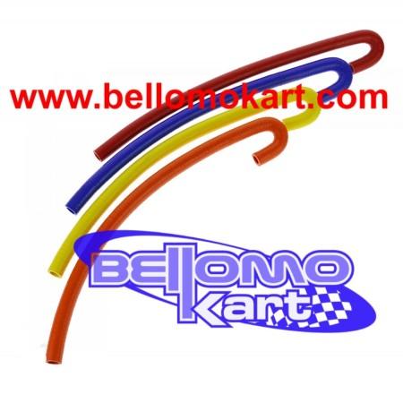 Tubo acqua in silicone (4 colori) 2 curve 180° 1200 mm