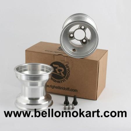 Set 2 cerchi razze 130 mm alluminio