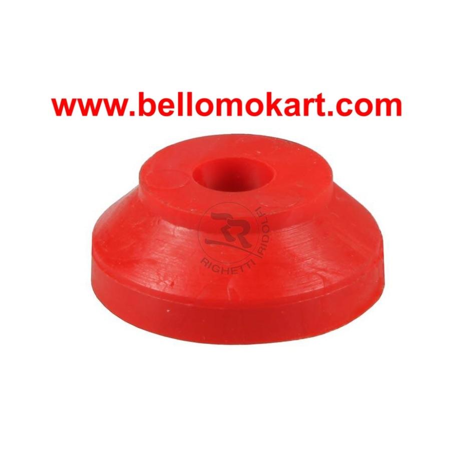 Rondella in gomma  30 x 8  h 12mm rossa