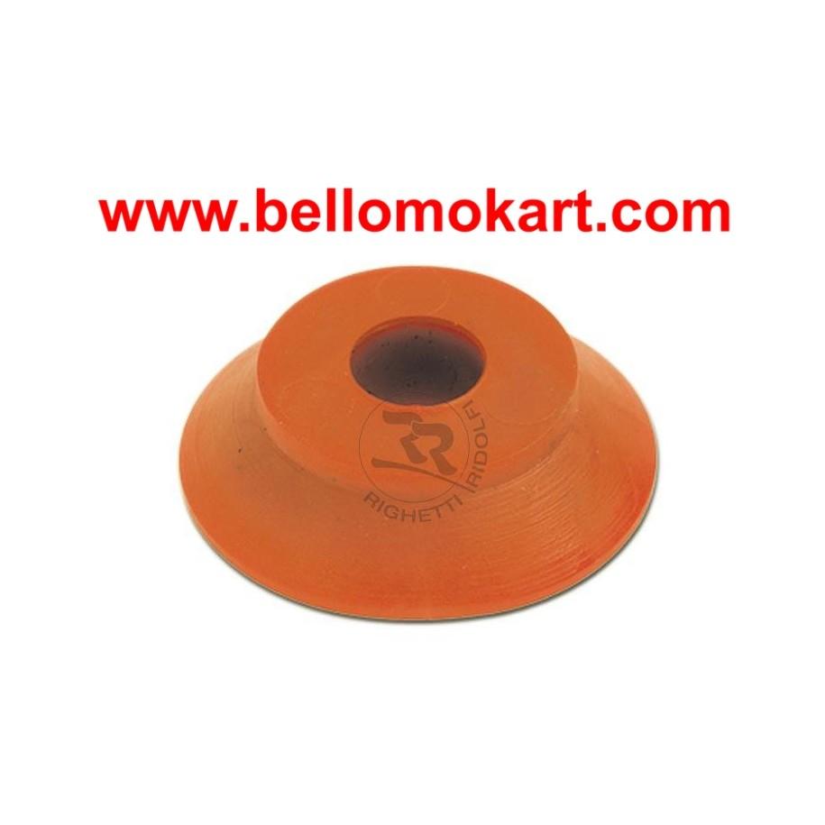 Rondella in gomma  30 x 8  h 8mm rossa