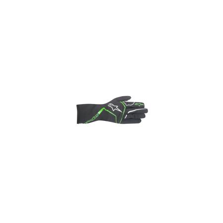 Guanti Alpinestars Tech 1-K Race nero-verde fluo