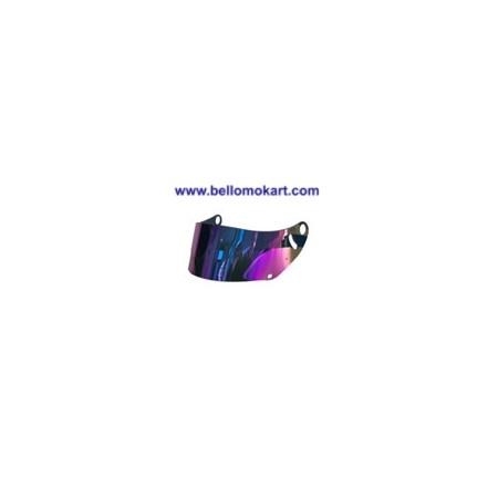 Visiera iridium rossa per casco arai CK6