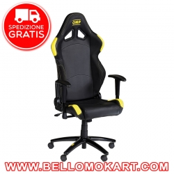 poltrona racing omp chair nero giallo