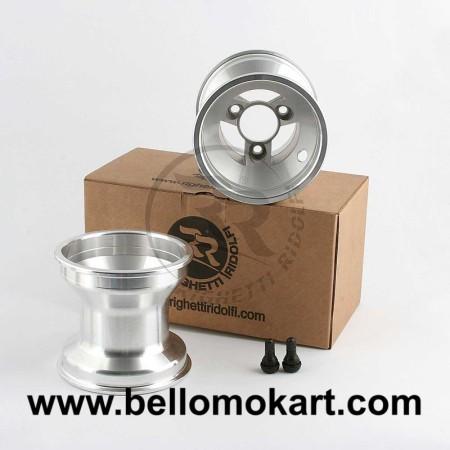 Set 2 cerchi razze 115 mm alluminio