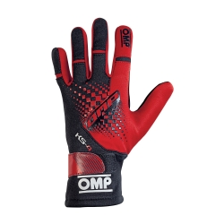 guanti OMP KS4 rosso  new 2019