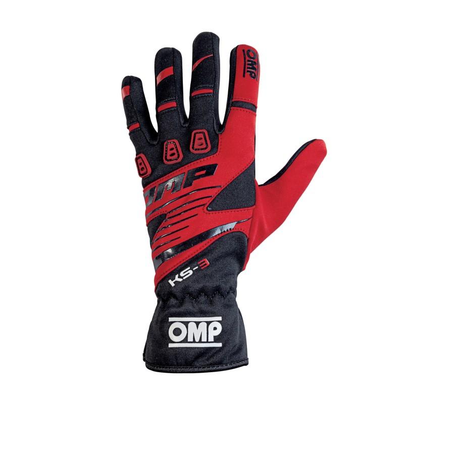 guanti OMP KS3 rosso-nero new 2019
