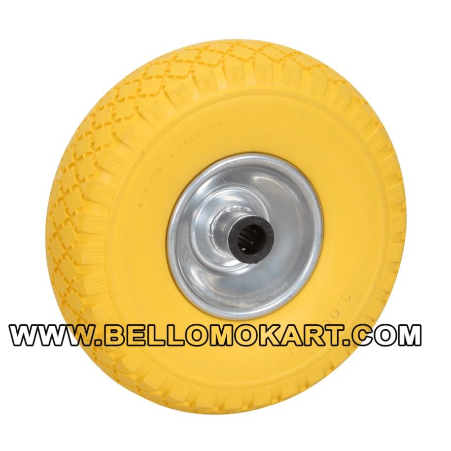 RUOTA DM 260 x 85 colore giallo CON RULLI D.20 mm,CERCHIO ALL.