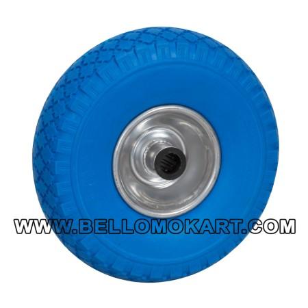 RUOTA DM 260 x 85 colore BLU CON RULLI D.20 mm,CERCHIO ALL.