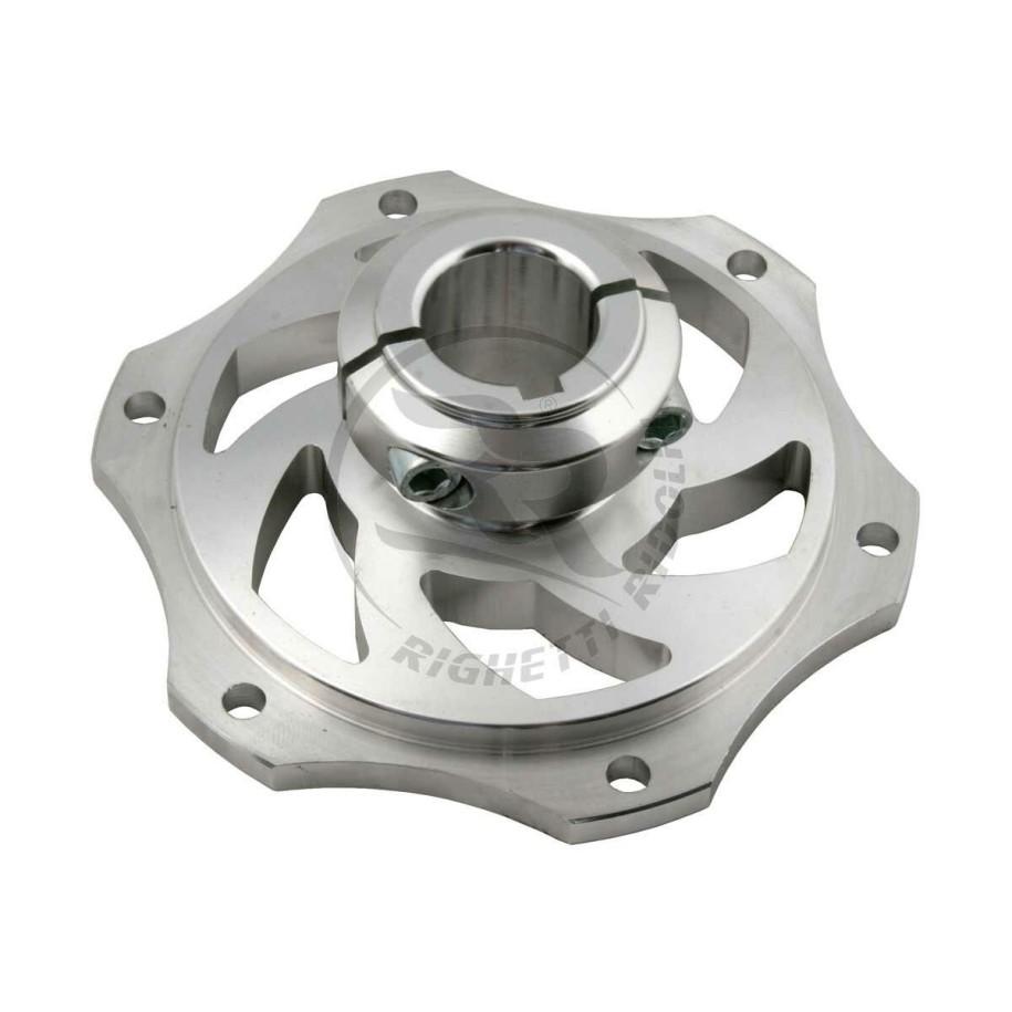 Portadisco in alluminio anodizzato per assale da 25 mm