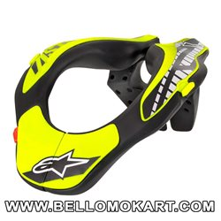 collare kart alpinestars ragazzo Youth Neck support giallo