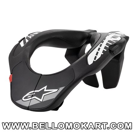 collare kart alpinestars ragazzo Youth Neck support nero