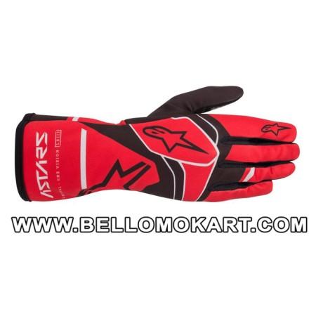 Guanti Alpinestars Tech 1-K Race V2 SOLID rosso nero grigio
