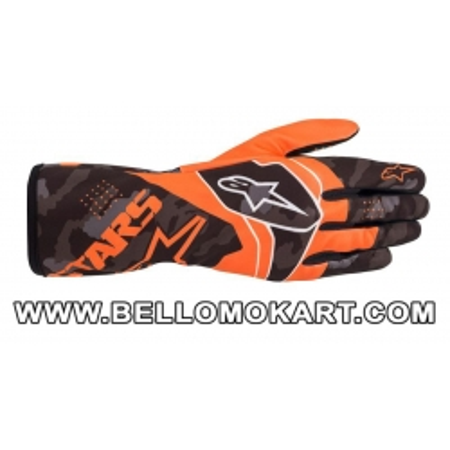 Guanti Alpinestars Tech 1-K Race V2 CAMO arancio fluo nero