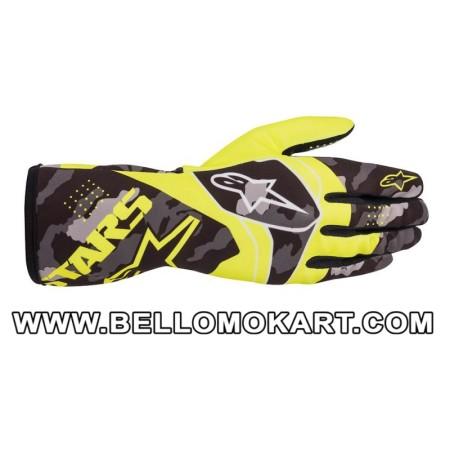 Guanti Alpinestars Tech 1-K Race V2 CAMO giallo fluo nero