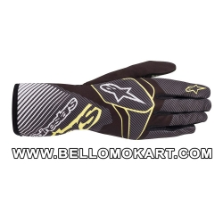 Guanti Alpinestars Tech 1-K Race V2 CARBON nero verde