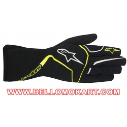 Guanti Alpinestars Tech 1-K Race nero-giallo fluo