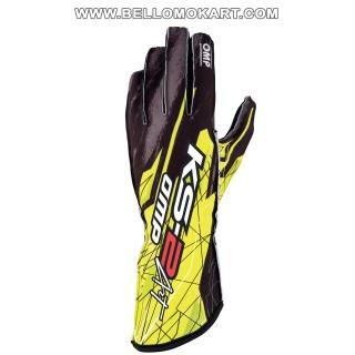 guanti OMP KS2 ART  nero-giallo new