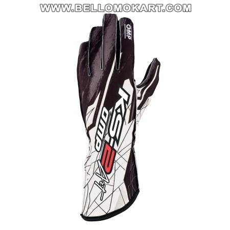 guanti OMP KS2 ART  nero-bianco new