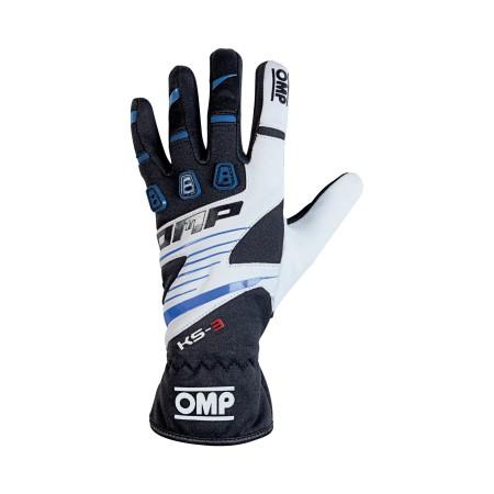 guanti OMP KS3 nero blu bianco