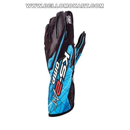 guanti OMP KS2 ART  nero-ciano