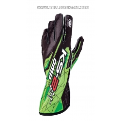 guanti OMP KS2 ART  nero-verde new