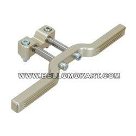 Poggiapiedi regolabile alluminio ( 2 colori )