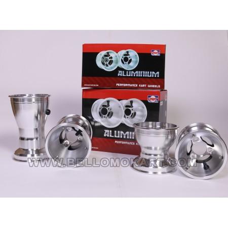 dado ruota m8 esagono 10 mm alluminio