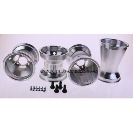 Set 4 cerchi a razze alluminio 130-210
