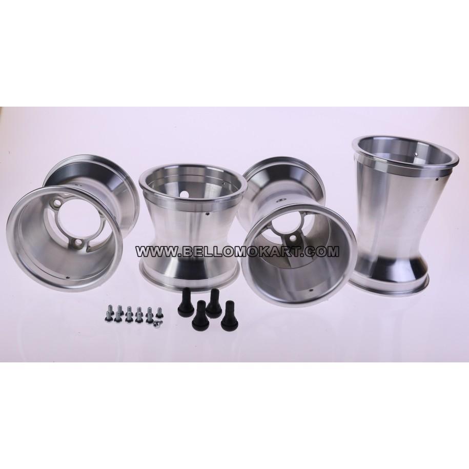 Set 4 cerchi a razze alluminio CRG 130-180 (pioggia)