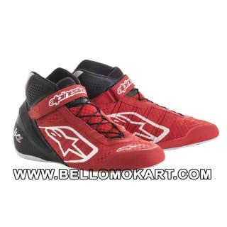 scarpe kart alpinestars TECH 1 KZ  rosso nero