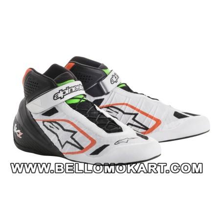 scarpe kart alpinestars TECH 1 KZ  bianco-nero-orange