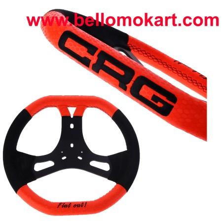 Volante CRG New Flat Out Black/Orange 340 mm