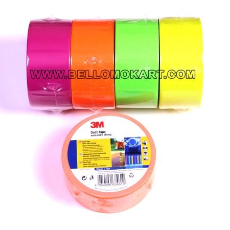 Nastro americano telato colori fluo 3M  15 mt (4 colori)