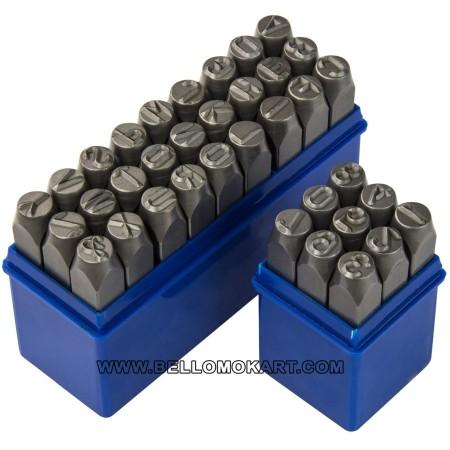 punzoni alfanumerici per metallo da 10 mm (36 pz.)