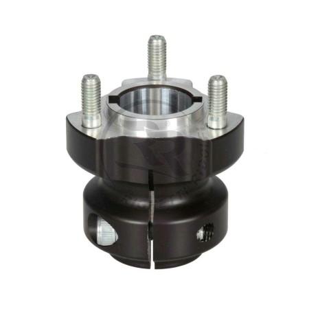 Mozzo Ruota D.30mm L.62mm CH6/8mm in Alluminio Nero