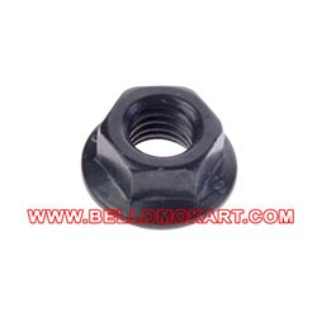 Dado 8 mm flangiato fissaggio cilindro nero
